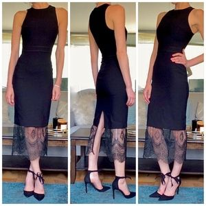 Cinq a Sept Hestia Lace Trimmed Midi Dress